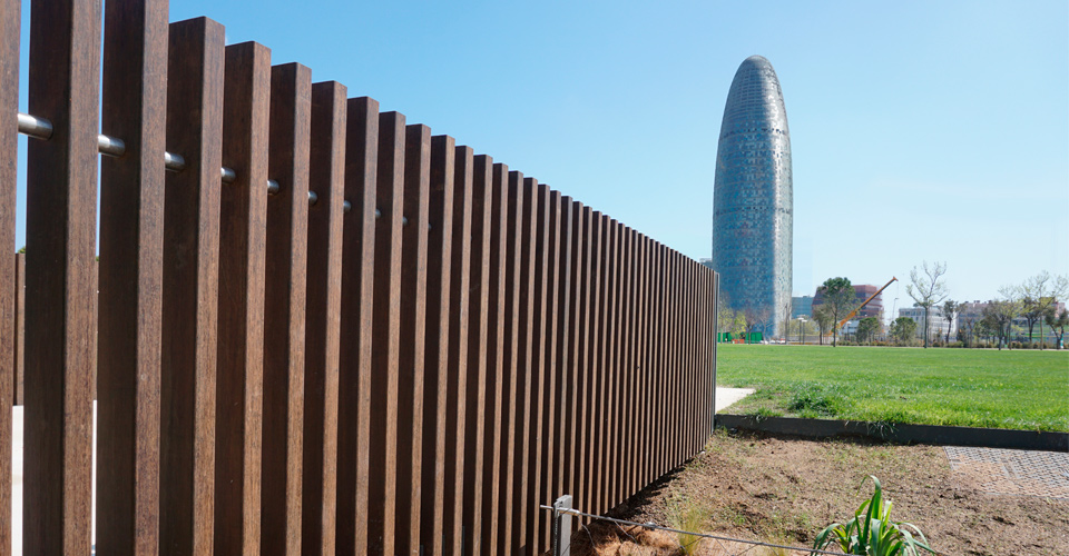 Les Glòries Barcelona - Listones Bamboo MOSO