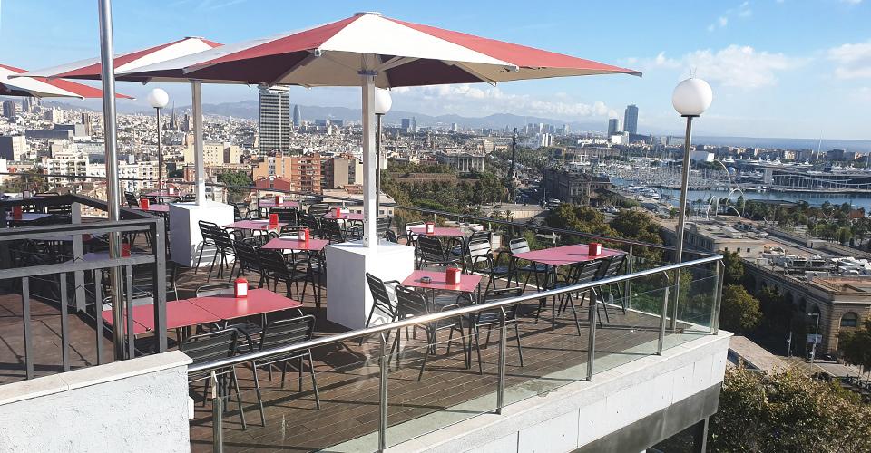 Restaurant Miramar Barcelona - Tarima Bamboo MOSO