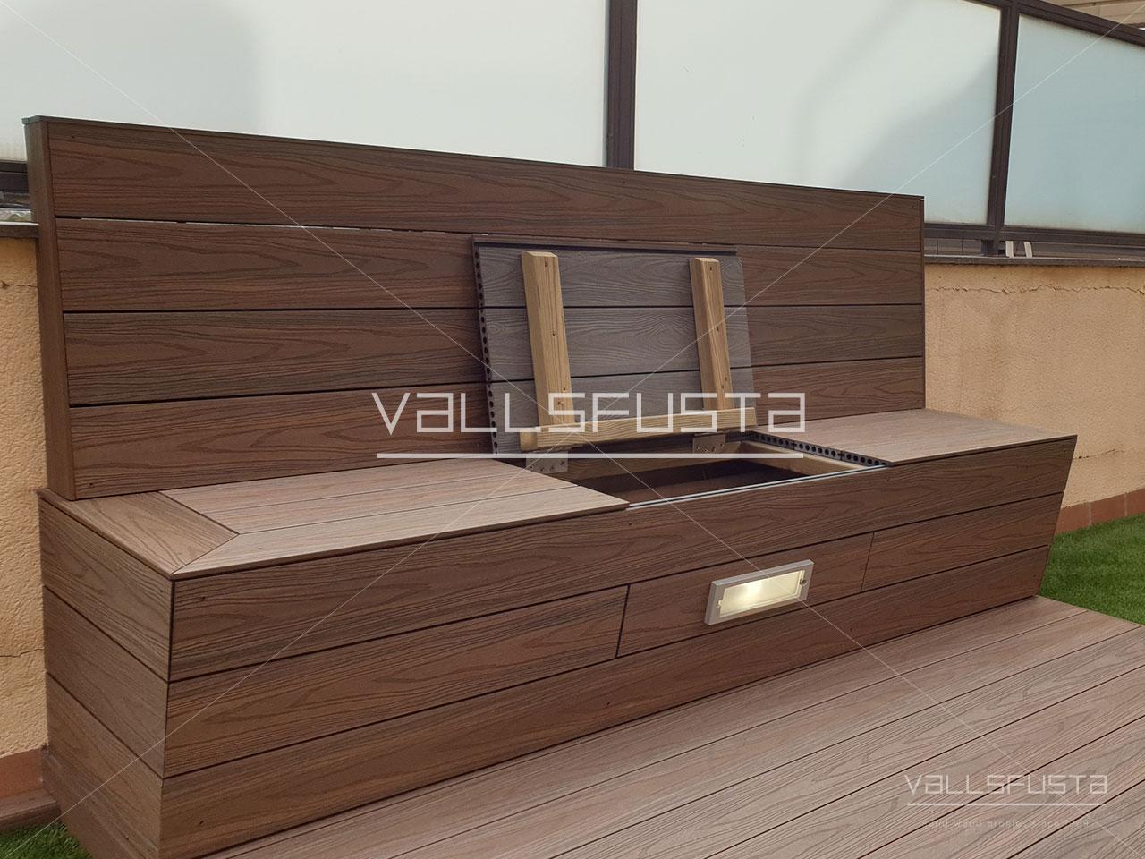 Tarima exterior Composite mobiliario
